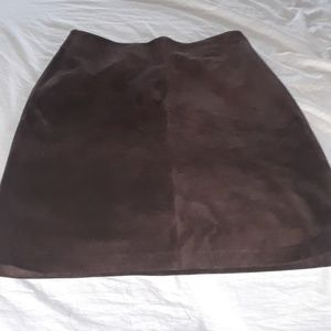 Brown soft Suede Skirt